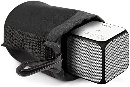 DURAGADGET Jet Black Neoprene Pouch Case in Size Small – Compatible with Sony SRS-X11 Wireless Bluetooth Portable Speaker