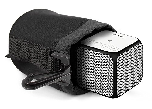 DURAGADGET Jet Black Neoprene Pouch Case in Size Small for Sony SRS-X11 Wireless Bluetooth Portable Speaker
