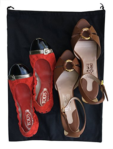 2 Woly XXL Shoe Bags (18''x 14'' in.) Fits 2 Pairs of Shoes Per Bag. Good for Travel. Made in Germany. by Woly (Image #3)