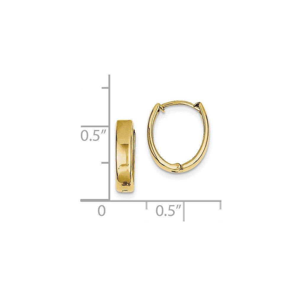 Mia Diamonds 10k Yellow Gold Polished Hinged Hoop Earrings