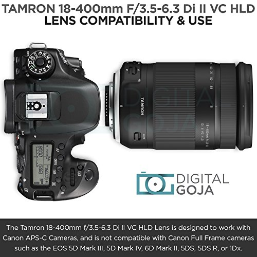 Tamron 18-400mm f/3.5-6.3 Di II VC HLD Lens for Canon DSLR Cameras w/Advanced Photo and Travel Bundle (Tamron 6 Year Limited USA Warranty) by Tamron (Image #2)