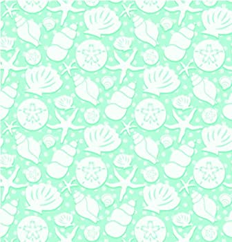 """Seashells Gift Wrapping Paper Roll 24"""" X 15'"""