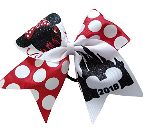 AZBOWS Cheer bows Summit 2018 Minnie Castle Hair -