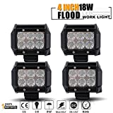 led bar light for polaris ranger - TURBO SII 4pcs 4 Inch Pods Cube flood Beam 18W led Work Light Driving Fog Lights For Dodge Ford Jeep Polaris RZR Ranger ATV UTV Can Am Maverick Boat Suv Truck 4X4 4WD Off Road 12V-24V