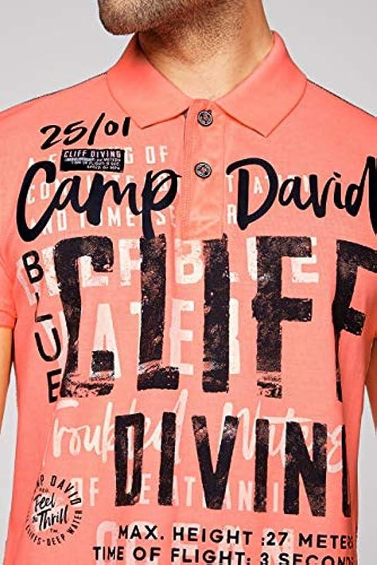 Camp David męska koszulka polo z pikee z nadrukiem XL: Odzież