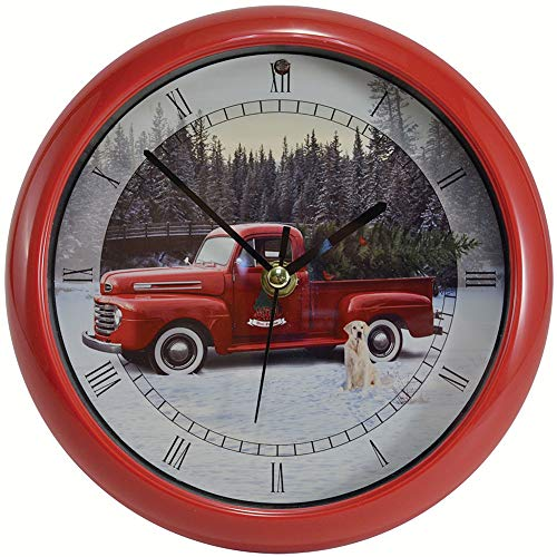 Red Ford Truck Christmas Carol Clock Plays 12 Traditional Carols