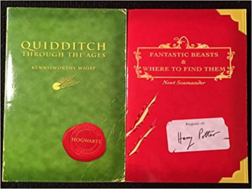 Harry Potter Schoolbooks Quidditch Through The Ages And Fantastic