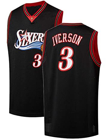 f7f0858f693 Youth Iverson Jersey 3 Philadelphia Allen Kids Athletics Retro Basketball  Boys