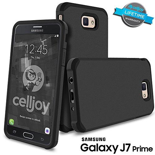Slim Fit Hybrid Shockproof Case for Samsung Galaxy On7 (Black) - 1