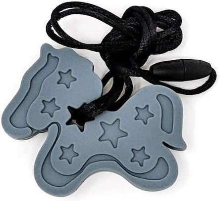 Grey Pony Unicorn Sensory Chew Silicone Necklace Pendant Autism ADHD BPA Free Gifts /& Goodies UK Seller