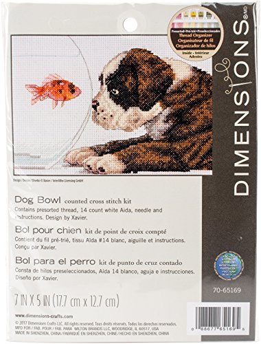 (Dimensions 70-65169 7 x 5 in. Dog Bowl Needlepoint Kit - 14 Count)