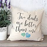 LGBT dads | Pillowcase for LGBT | Gay fathers day | Happy fathers day | Same sex gifts | Two dads are better than one | LGBT fathers pillowcase | Gay dad gift idea | Two dads gift