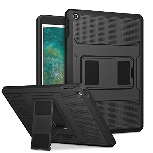 - MoKo Case Fit iPad 9.7 5th/6th Generation - [Heavy Duty] Shockproof Full Body Rugged Hybrid Cover with Built-in Screen Protector Compatible with Apple iPad 9.7 Inch 2018/2017, Black