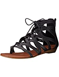 Women's Santini Cutout Lace-Up Open Toe Ankle Strap Gladiator Sandal
