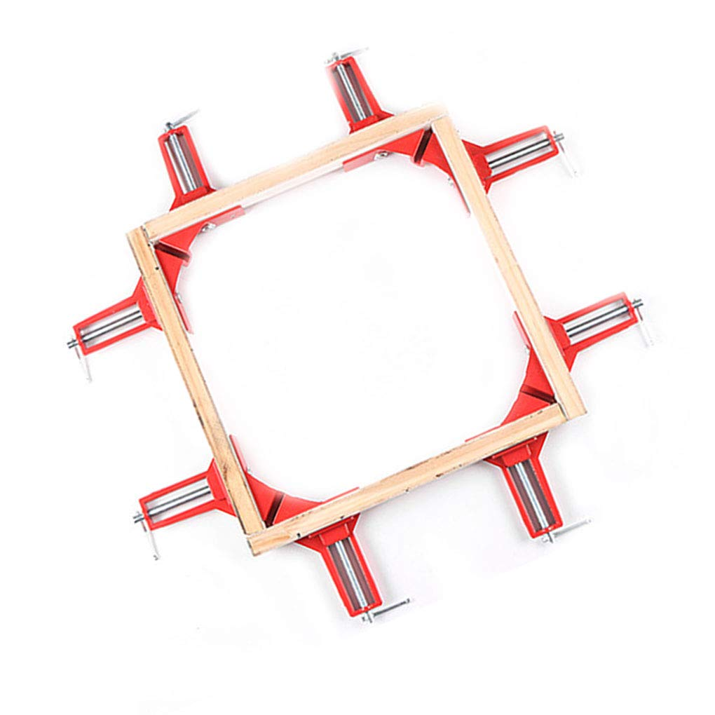 Laileya 90 Degree Frame Reinforce Metal Clamps Right Angle Clip Metal clamp Frame Corner Holder Wood Working Hand Kit Tool