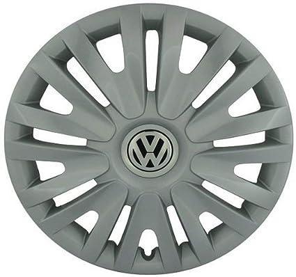 Volkswagen Genuine Alta chromeblack Anillos de tapacubos VW Golf ...