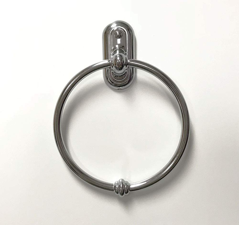 Wood Technology Towel Ring in Polished Chrome