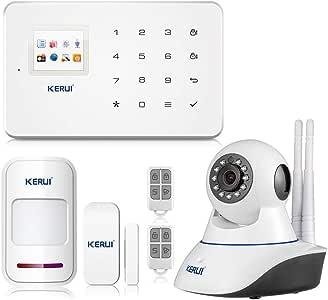 KERUI G18 APP Control Hogar del Alarma Sistema de Seguridad GSM Alarma Sensor de Ventana/Puerta Magnético Inalámbrico, Detector Movimiento, Cámara IP Vigilancia Infrarroja WIFI para el Casa/Tiend