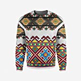 iPrint Men's Crewneck Anemone Flower Pullover Sweater