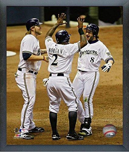 (Ryan Braun, Nyjer Morgan, & Corey Hart Milwaukee Brewers 2011 MLB NLDS Photo (Size: 12