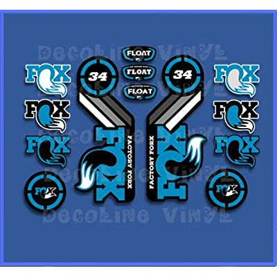 Ecoshirt GC-A9SJ-XM8S Stickers Fox Float 34 2015 Heritage DP1088 Stickers Aufkleber Decals Autocollants Desivi, Blue: Automotive