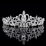 NIPOO Wedding Pageant Tiara Bridal Rhinestones Crystal Crown Headband Princess Headpiece