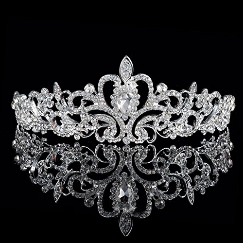 Nipoo Wedding Pageant Bridal Tiara Crown, Rhinestones Crystal Tiara Headband Princess Headpiece