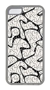 Concise lines Custom iPhone 5C Case Cover TPU Transparent