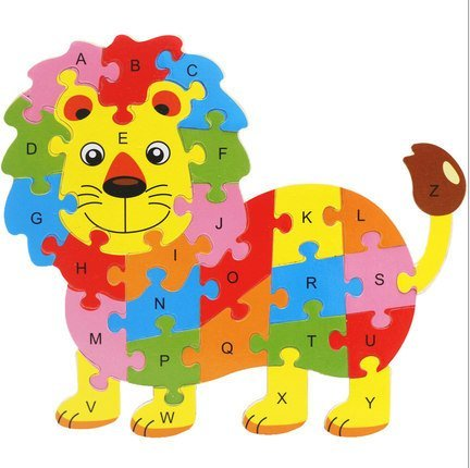URToys 2Pcs New Educational Toys Brain Game Kids Winding Lion &Cow Shaped Wooden Learning Toys Wood Kids 3D Puzzle Wood Brinquedo Madeira Kids Jigsaw Puzzles
