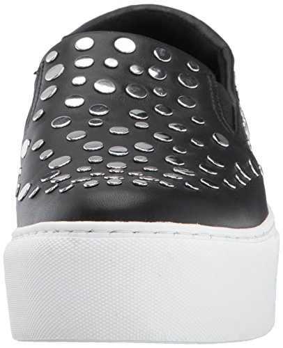 Kenneth Cole New York Womens Jeyda Slip On Platform Dettaglio Stud Moda Sneaker Nero