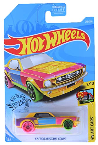 Hot Wheels `67 Mustang Coupe 218250 Multi Color / Hot Wheels `67 Mustang Coupe 218250 Multi Color