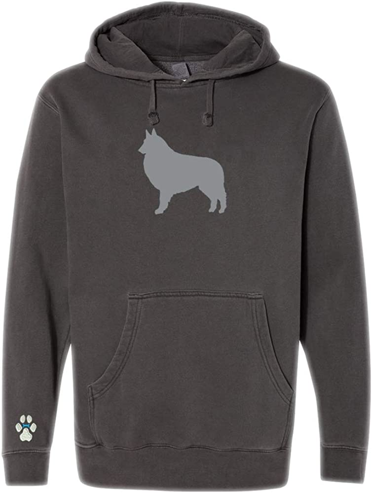 Heavyweight Pigment-Dyed Hooded Sweatshirt with Belgian Tervuren Silhouette