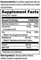Zinc Plus | 30 mg of Zinc Bis-glycinate Chelate & Riboflavin, Vitamin B6, Molybdenum, Taurine, Malic Acid | Supports Immune Function | 90 Vegetarian Capsules from Adaptogen Research