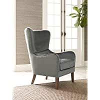 Elle Decor UPH100085A Wingback Chair, Gray