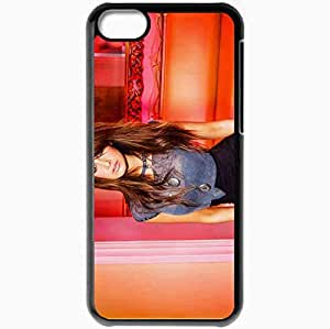 Personalized iPhone 5C Cell phone Case/Cover Skin Ashley Tisdale Brunette Singer Actress Stylish Black