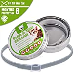 8 Month Protection Water-Resistant Pet Flea and Tick Collar for Cats Adjustable Length