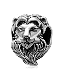 King Lion King of The Jungle 925 Sterling Silver Charm Bead