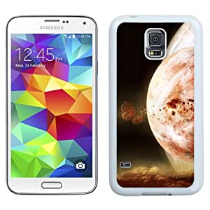 Fashionable And Unique Designed Cover Case For Samsung Galaxy S5 I9600 G900a G900v G900p G900t G900w With Burning Duality Science Fiction Planets_White Phone Case
