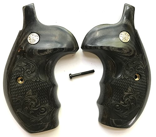 (Smith & Wesson Grips S&W K/L/X Frame Grips Silverblack Checkered & Scroll)