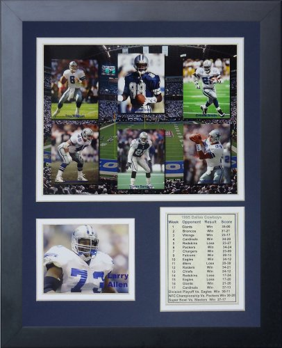 Legends Never Die Dallas Cowboys 1995 Super Bowl Champions Framed Photo Collage, - Double Die 1995