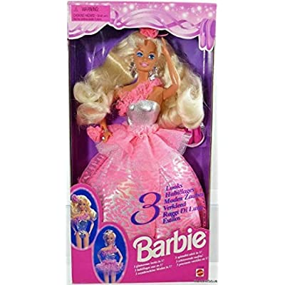 Mattel Barbie 3 Looks 1995 #12339 Doll: Toys & Games