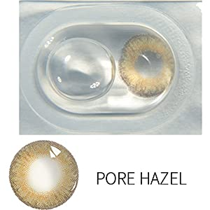 12 Kind of Colored Contacts Lenses, Multicolor Cute Charm and Attractive Contact Lenses (1 PC Per Package) (Pure Hazel)