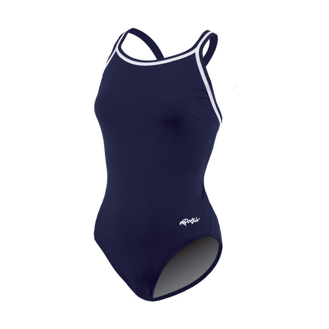 Dolfin Chloroban Team Solid Suit Womens Navy Size 34 by Dolfin