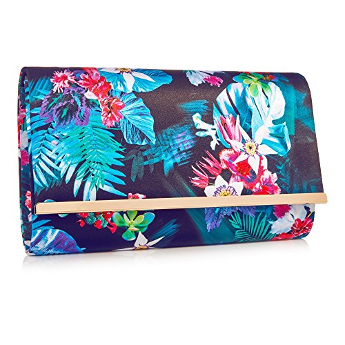 Floral Womens Multi By Bag Macdonald Satin Clutch Coloured Star Julien Print 0wIdZqxw