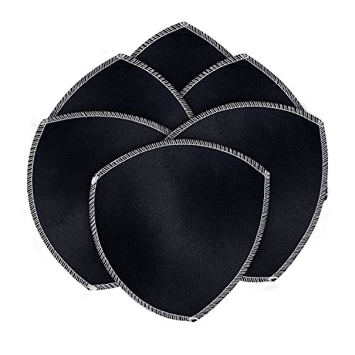 (TopBine Bra Pads Inserts Women's Sports Cups Bra Filler Bra Replacement Insert For Bikini swimsuit (3 pairs B/C black))