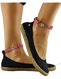 Hemp Ballerinas Shoes Women Unique Ankle Strap Womens Espadrilles – Flanieren