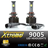 Xprite All-IN-ONE Patented Design Ultra Bright LED Headlight Conversion Kit (No Ballast Required) - All Bulb Sizes & Color Temperature Covers - Replaces Halogen & HID Bulbs (9005 (HB3), Original Temperature Cover Kit)