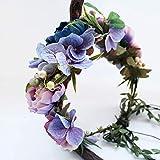 Handmade Adjustable Flower Wreath Headband Halo