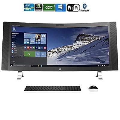 "Hewlett Packard ENVY 34-a010 34"" i5-6400T Curved All-in-One Desktop - (M9Z77AA#ABA) (Certified Refurbished)"