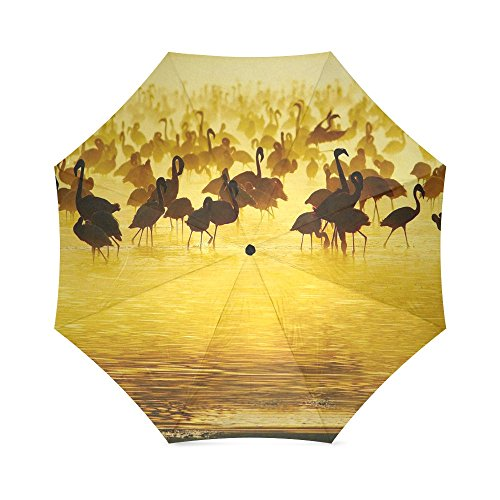 Christmas/New Year Gift Beautiful Flamingo Pattern Foldable Sun/Rain Umbrella Sunshade Parasol